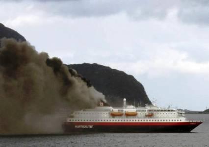 Incendio a bordo de un crucero