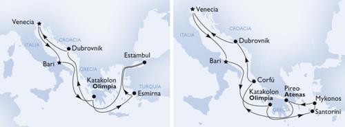 Las ofertas de Crucero por el Mediterráneo para el verano