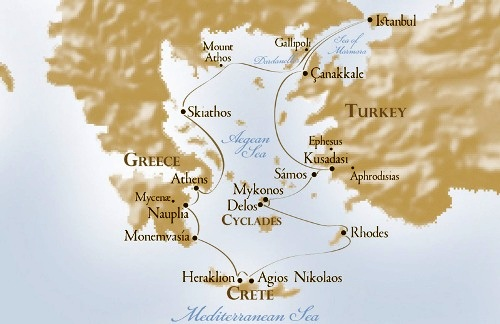 Emprendedor crucero hacia las antigüedades del Mediterráneo