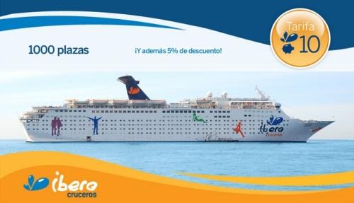 Sea uno de los 1.000 de la nueva Tarifa 10 de Ibero Cruceros