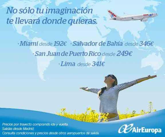 Vuela por Europa por 40 euros con Air Europa