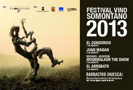 Festival Vino Somontano 2013, este agosto