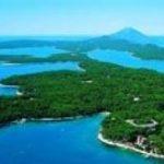 Exuberantes islas en la costa de Croacia, isla de Losinj